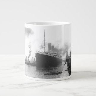 Titanic at the docks of Southampton 20 Oz Large Ceramic Coffee Mug