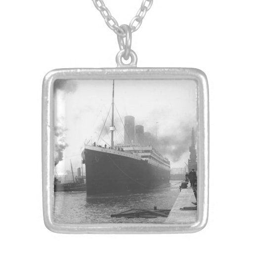 Titanic at the docks of Southampton Necklace