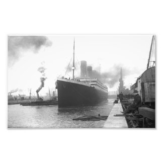 Titanic at the docks of Southampton Photo Print