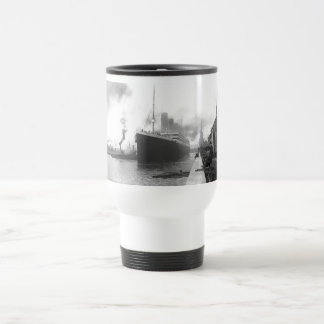 Titanic at the docks of Southampton Stainless Steel Travel Mug