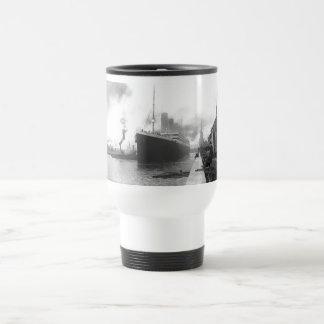 Titanic at the docks of Southampton Travel Mug