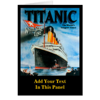 Titanic- Custom Poster Card