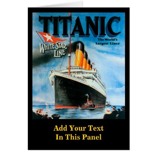 Titanic- Custom Poster Card
