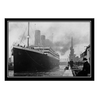 Titanic dock vintage Photo Poster Titanic Series