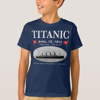 Titanic Ghost Ship Kids Dark T-Shirt