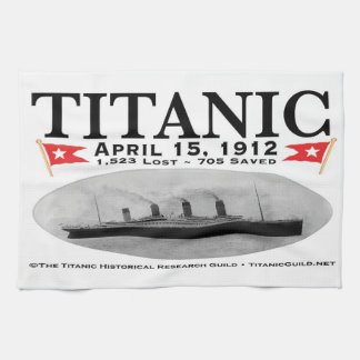Titanic Ghost Ship Tea Towel