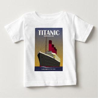 Titanic Ocean Liner Art Deco Print Baby T-Shirt