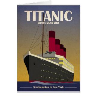 Titanic Ocean Liner Art Deco Print Greeting Card