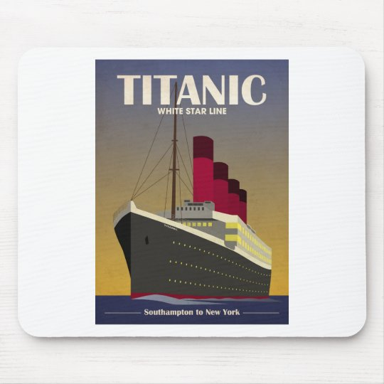 Titanic Ocean Liner Art Deco Print Mouse Pad