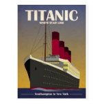 Titanic Ocean Liner Art Deco Print Postcard