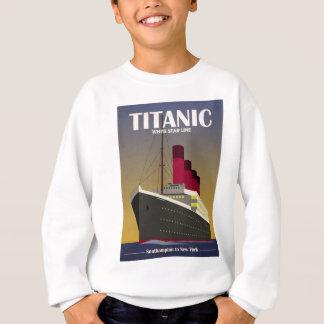 Titanic Ocean Liner Art Deco Print Sweatshirt