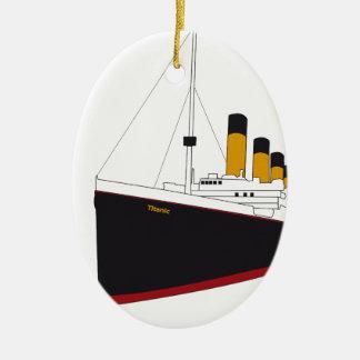 titanic original ceramic oval decoration