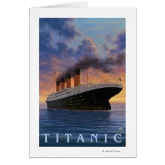Titanic SceneWhite Star Line Card