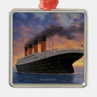 Titanic SceneWhite Star Line Christmas Ornament