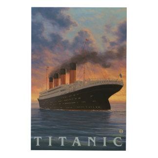 Titanic SceneWhite Star Line Wood Print