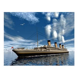 Titanic ship postcard