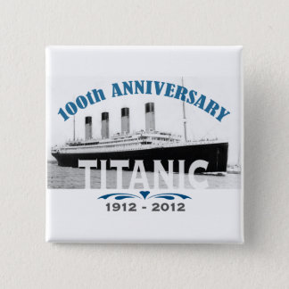 Titanic Sinking 100 Year Anniversary 15 Cm Square Badge