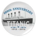 Titanic Sinking 100 Year Anniversary Dinner Plates