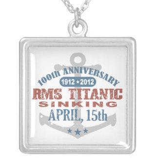 Titanic Sinking 100 Year Anniversary Square Pendant Necklace