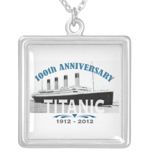 Titanic Sinking 100 Year Anniversary Square Pendant Necklace