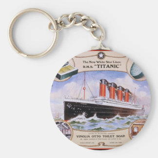 Titanic Soap Label Key Ring