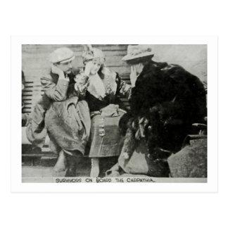 Titanic Survivors on the Carpathia Postcard