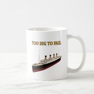 Titanic too big to fail basic white mug