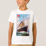 Titanic White Star Line Oil Painting T-Shirt