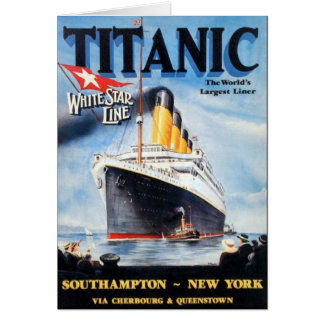 Titanic White Star Line Poster Card