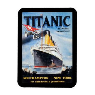 Titanic White Star Line - World's Largest Liner Rectangular Photo Magnet