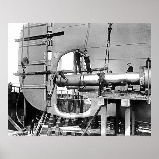 Titanic's Propeller Shafts Print
