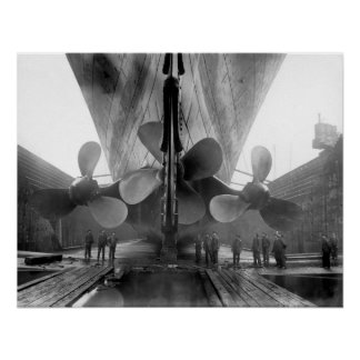 Titanic's propellers poster