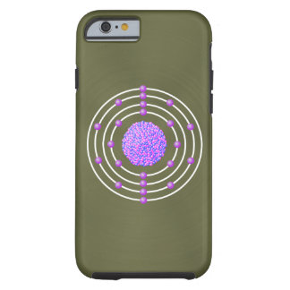 Titanium Atom with background Tough iPhone 6 Case