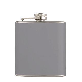 Titanium Gray Grey Color Trend Background Hip Flask