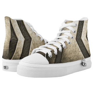 Titanium Modern Design High Top Shoes Printed Shoes