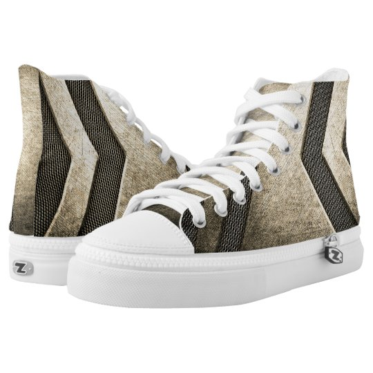 Titanium Modern Design High Top Shoes Printed Shoes