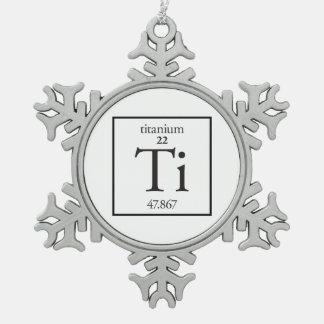 Titanium Snowflake Pewter Christmas Ornament