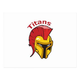 TITANS MASCOT POSTCARD