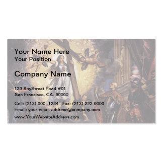 Titian- Doge Antonio Grimani Kneeling Before Faith Business Card Templates