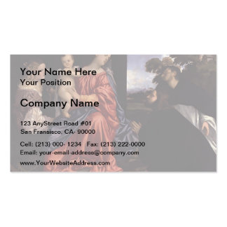 Titian- Madonna and Child with Saints Business Card