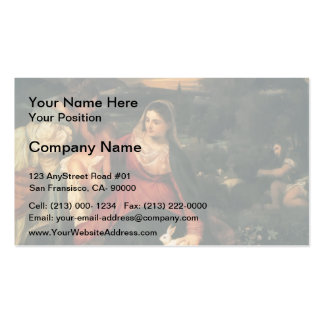Titian- Madonna Child St Catherine a Rabbit Business Card Templates
