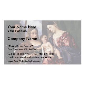 Titian- Madonna Child with Sts Dorothy George Business Card