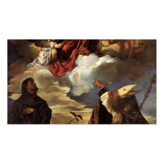 Titian- Madonna in Glory with the Christ Child Business Card Templates