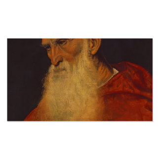 Titian- Portrait of an Old Man Pietro Bembo Business Cards