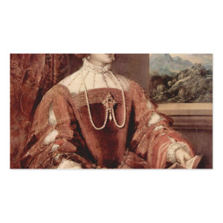 Titian- Portrait of Isabella of Portugal Business Card Template