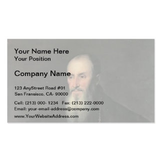 Titian - Portrait of Nicolas Perrenot of Granvelle Business Card Template
