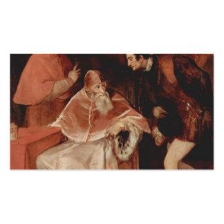 Titian- Portrait of Pope Paul III Business Card Templates