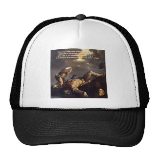 Titian Quote & David/Goliath Painting Gifts Cap