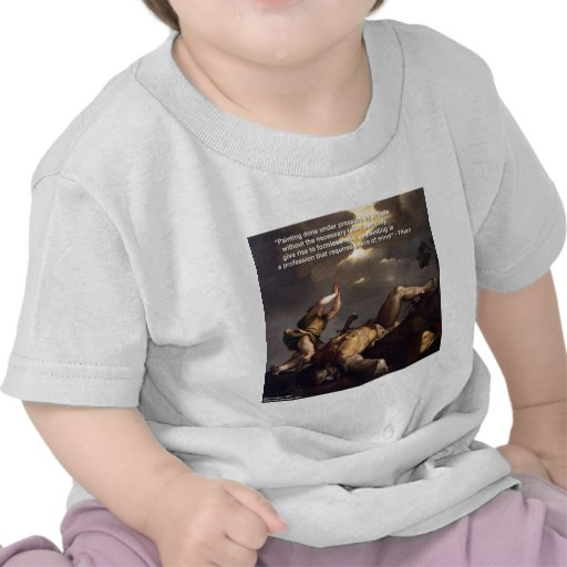 Titian Quote & David/Goliath Painting Gifts Shirts