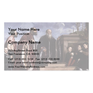Titian- The Vendramin Family Venerating a Relic Business Card